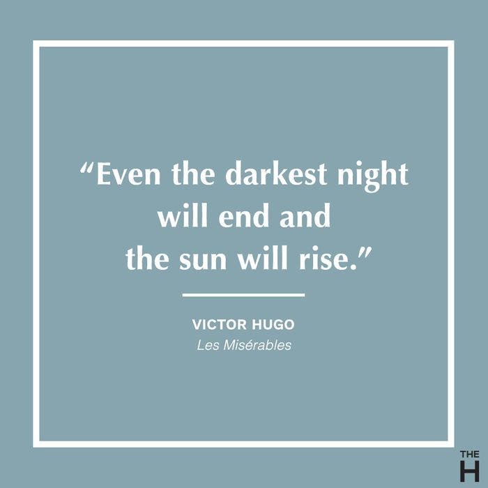 Les Miserables Positive Thinking Quote