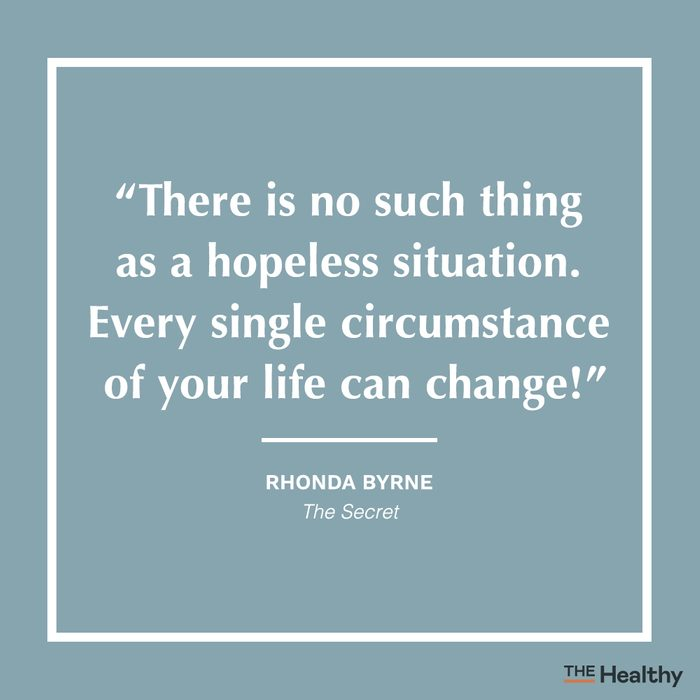 rhonda byrne positive thinking quote