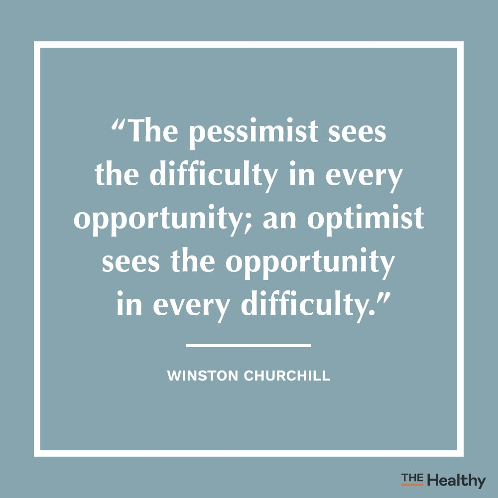 winston churchill positive thinking quote