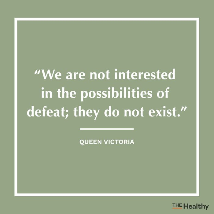 queen victoria positive thinking quote