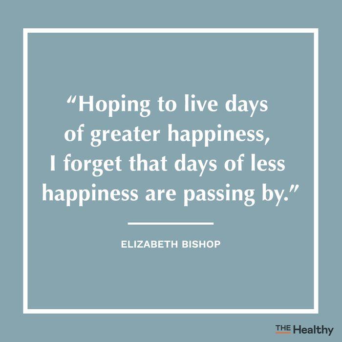elizabeth bishop positive thinking quote