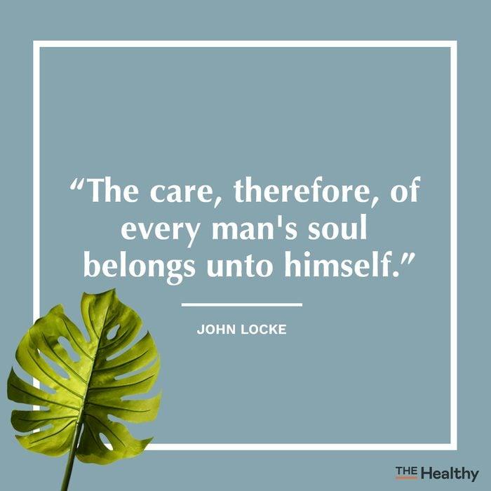 john locke self care quote