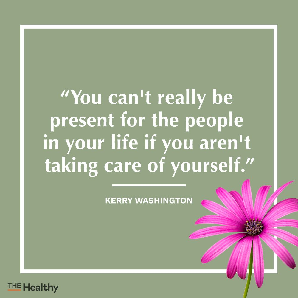 kerry washington self care quote