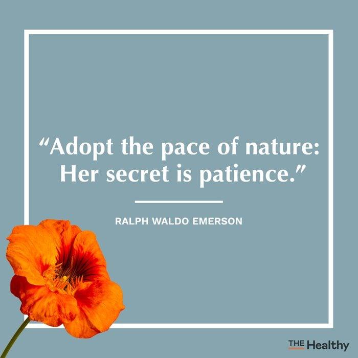 ralph waldo emerson self care quote