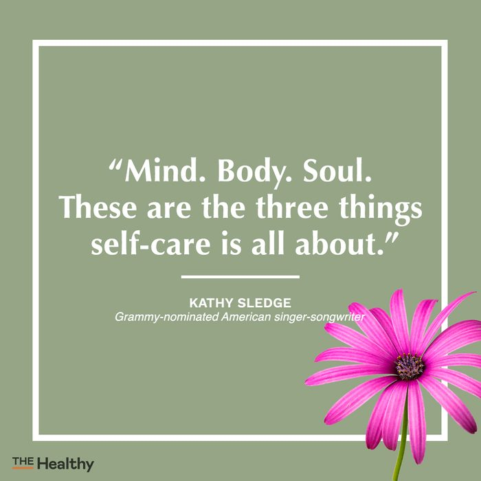 kathy sledge self care quote
