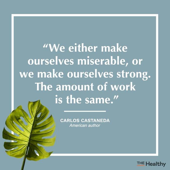 carlos castaneda self care quote