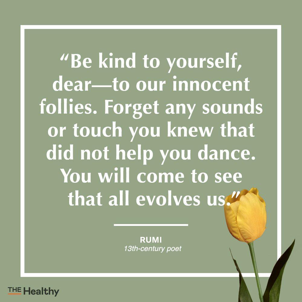 rumi self care quote