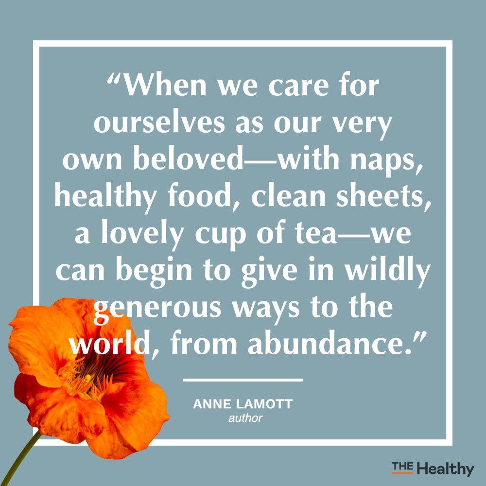 anne lamott self care quote