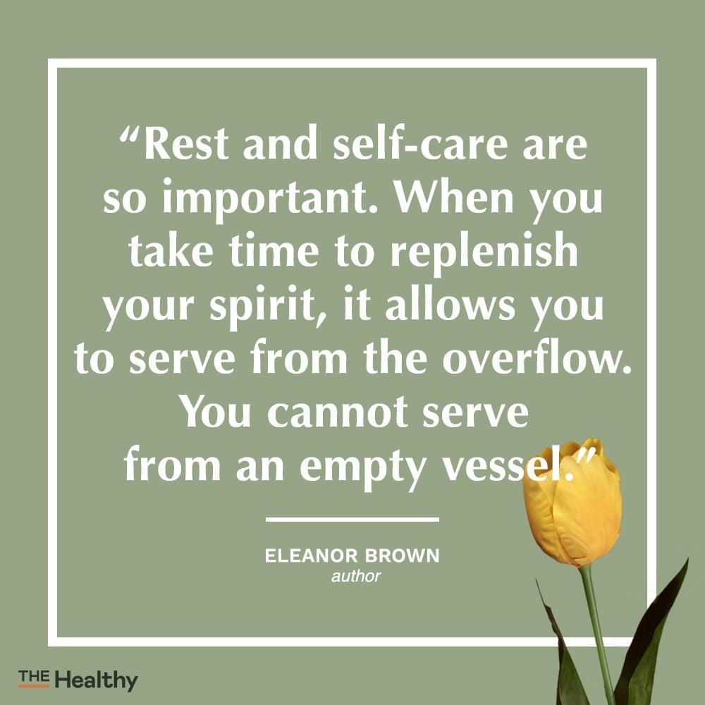 eleanor brown self care quote