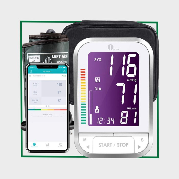 1 By One Blood Pressure Monitor Upper Arm With Large Cuff