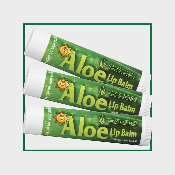 3-Pack SPF-15 Sunscreen Aloe Lip Balm