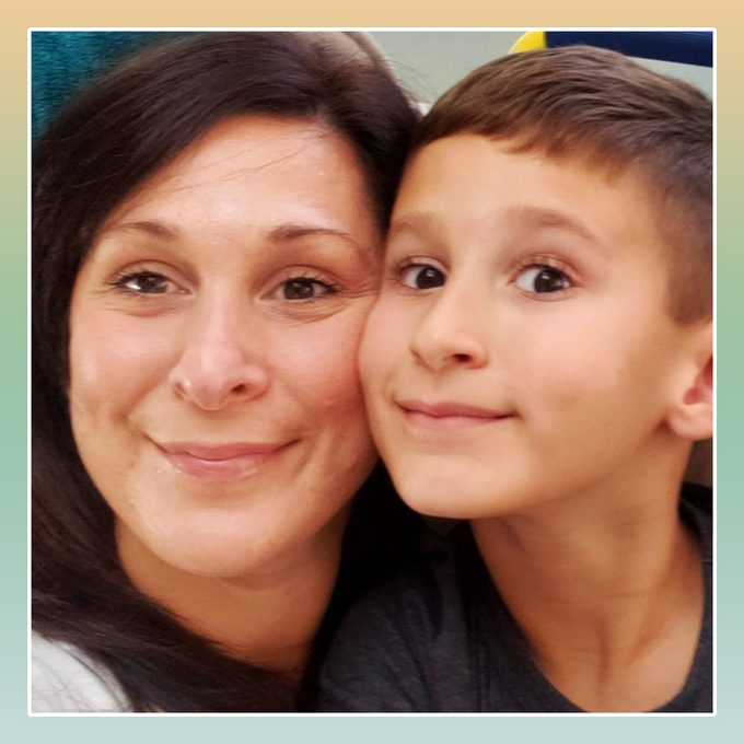 Carly Kazlauskas and her son
