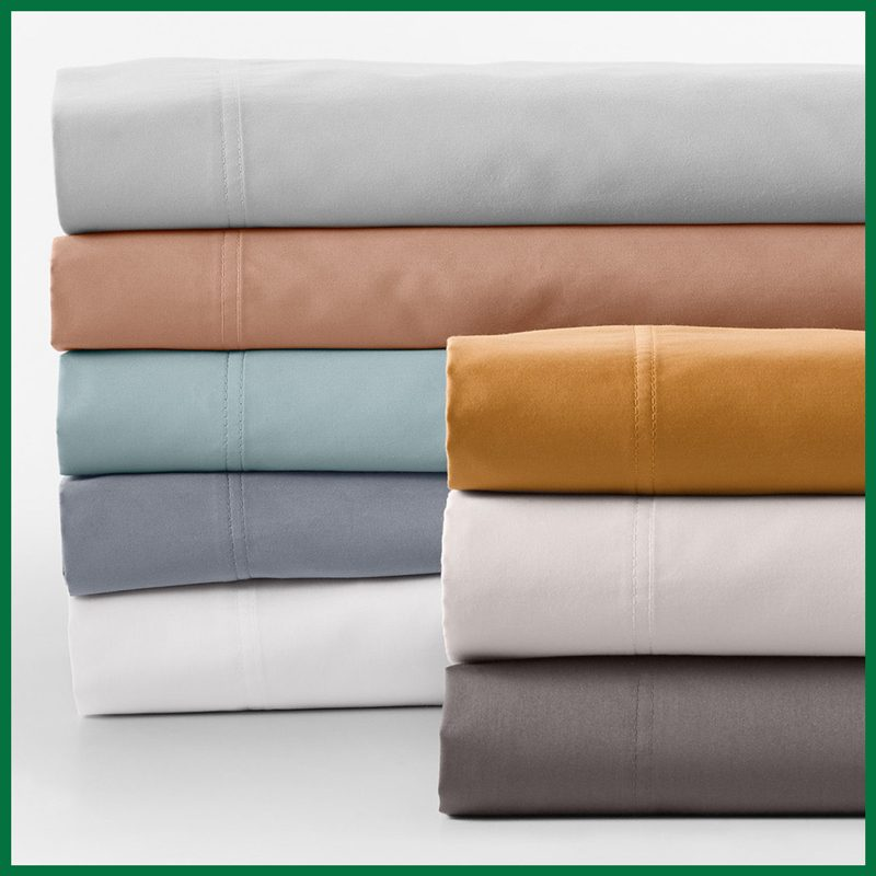 Garnet Hill Wrinkle-Resistant Solid Sateen Bedding