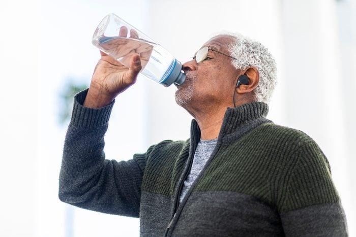 Senior Man Drinking Water