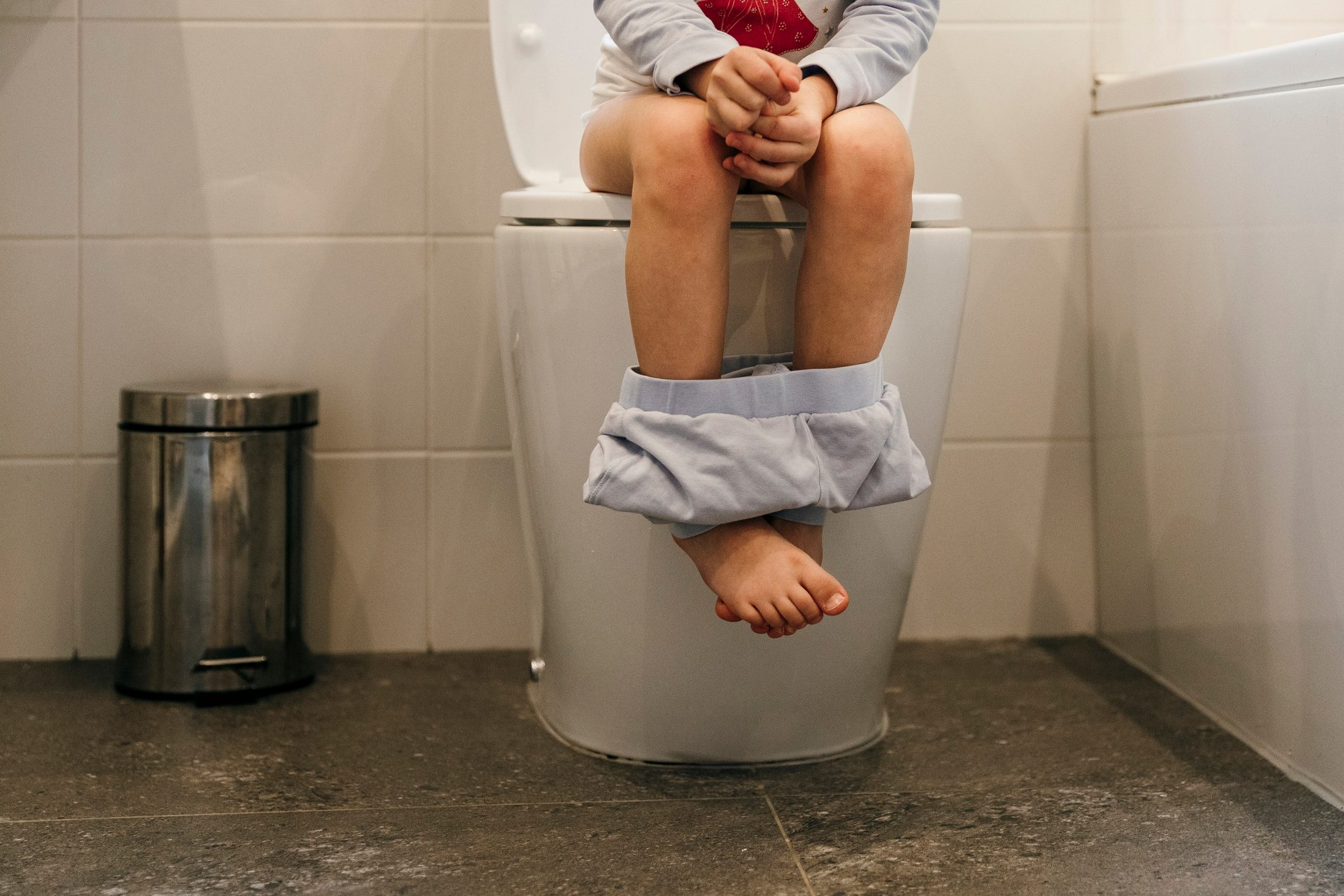 young child Using The Toilet