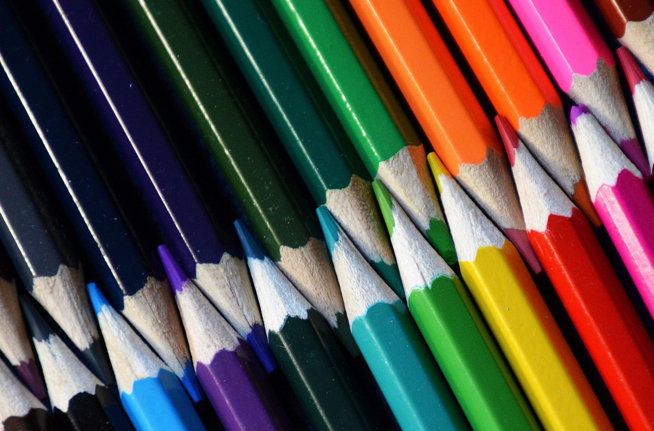 Multicoloured pencils France