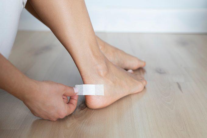 Adhesive Plaster on Heel