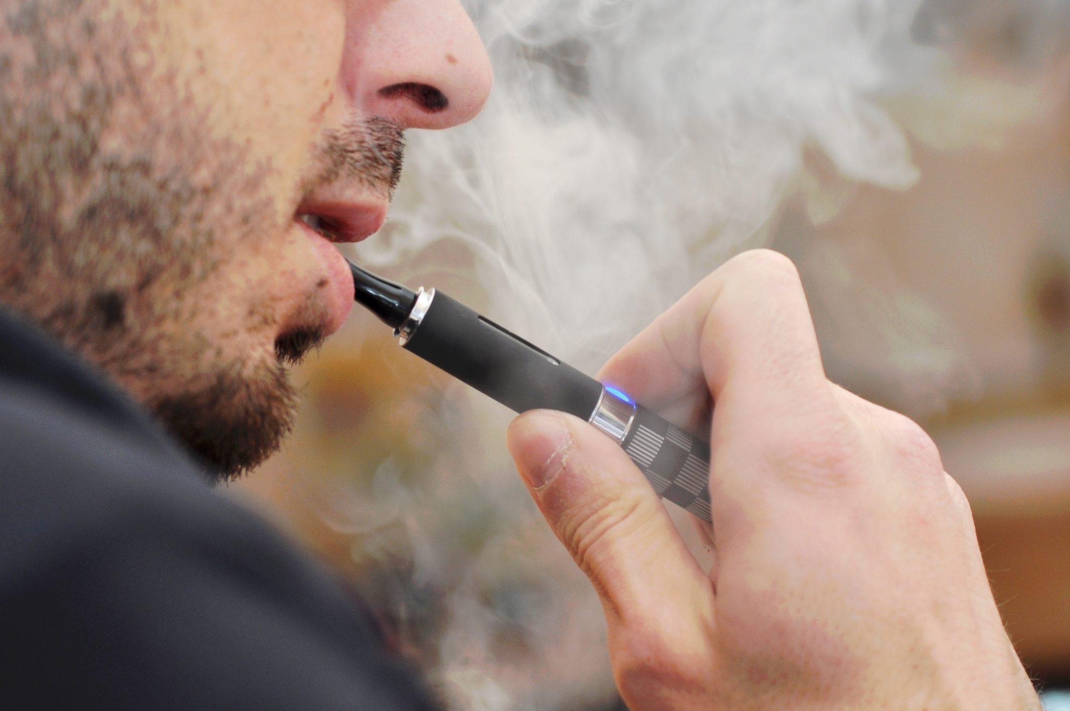 e-cigarette vaping device close up