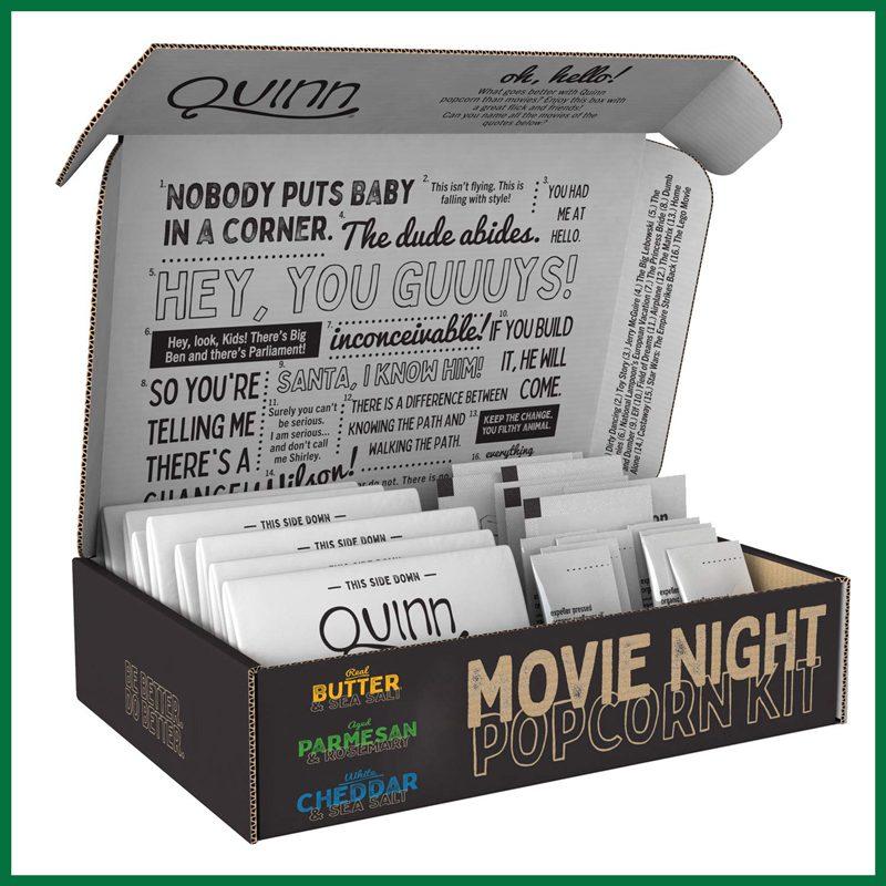 Quinn Movie Night Microwave Popcorn Variety Pack