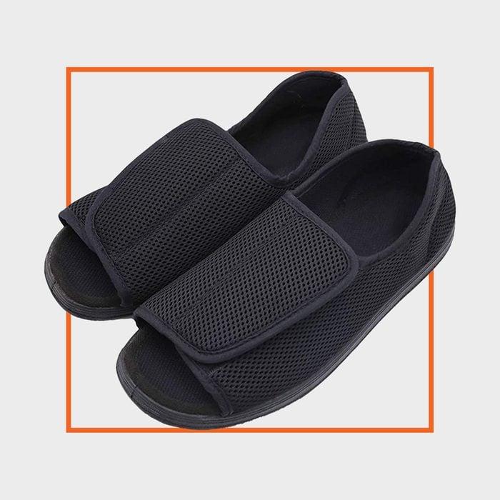 Secret Slippers Men's Open Toe Diabetic Recovery Slippers