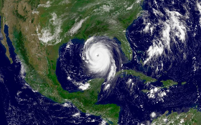 August 28, 2005 - Hurricane Katrina in the Gulf of Mexico.