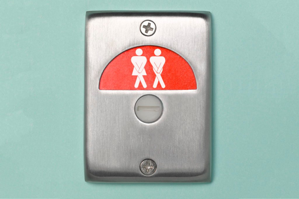 overactive bladder restroom sign