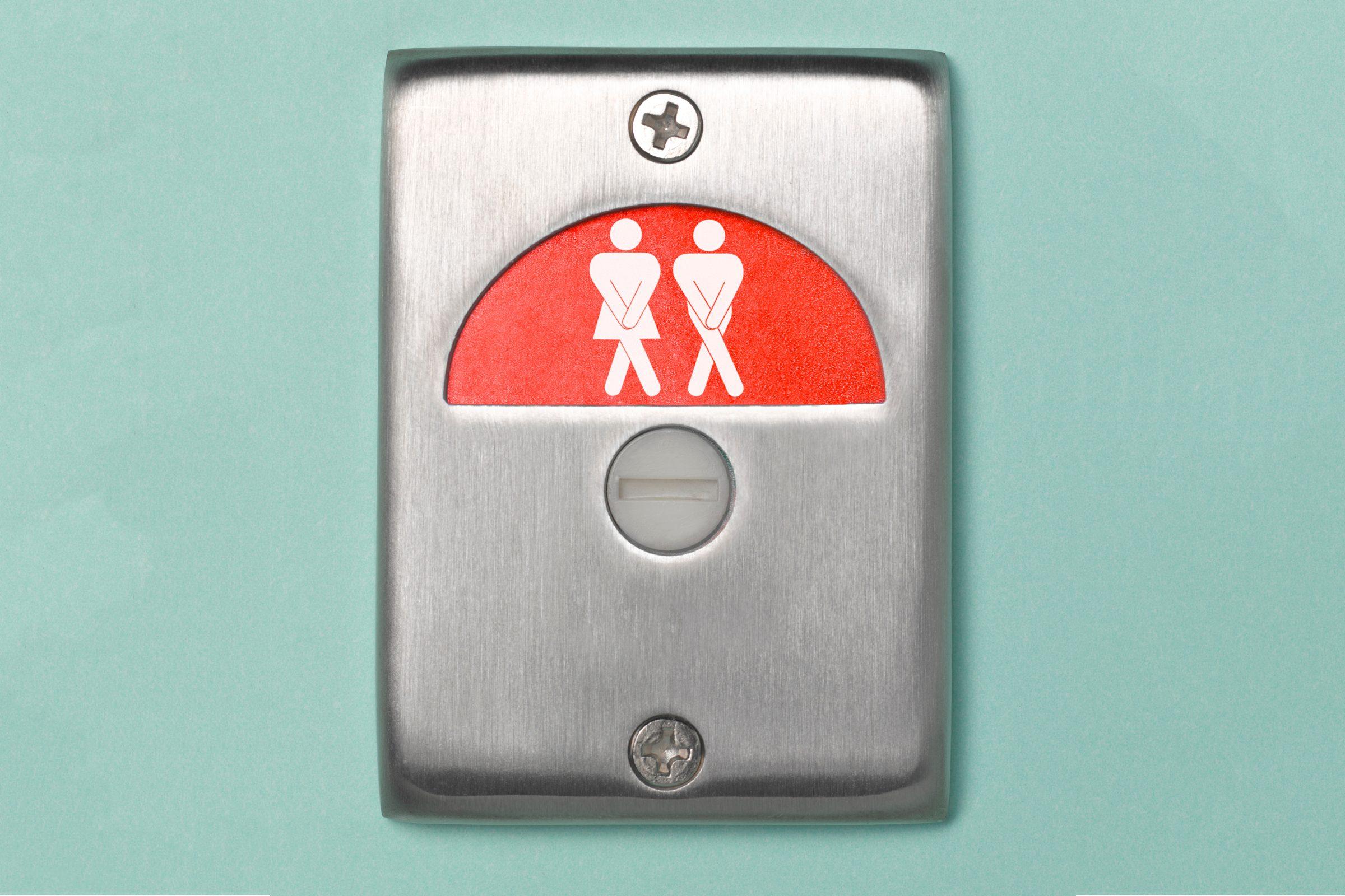 overactive bladder restroom sign