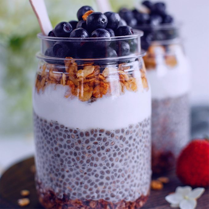 Blueberry Vanilla Chia Seed Pudding by Mareya Ibrahim