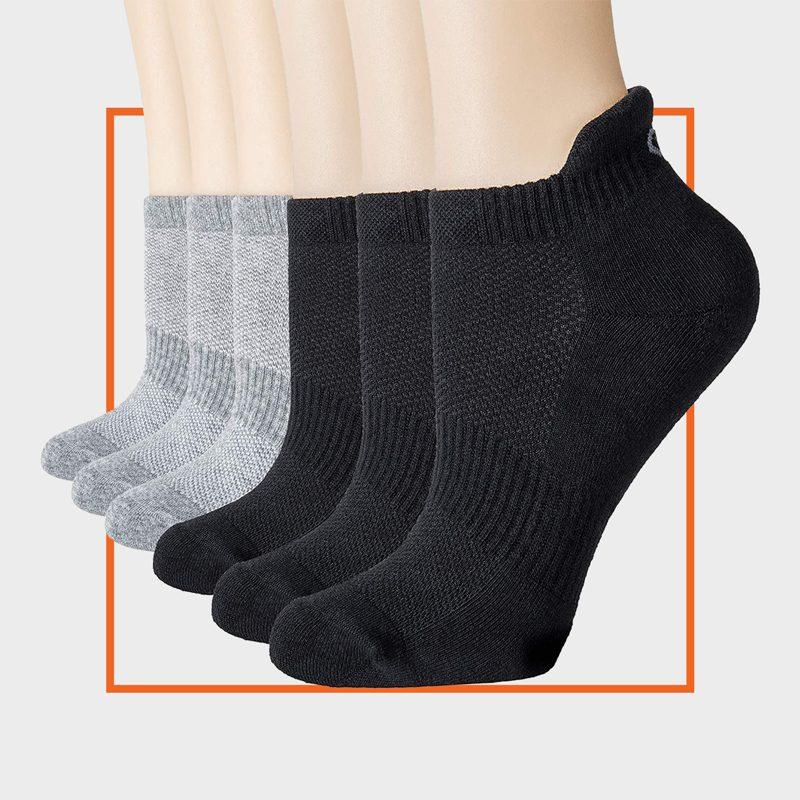 CelerSport Ankle Athletic Running Socks (6 Pairs)