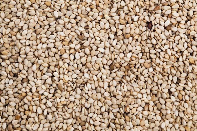 Sesame seeds full frame