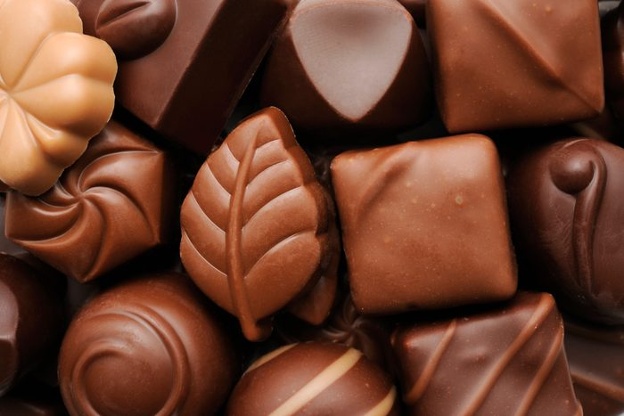 Close up of luxury chocolates