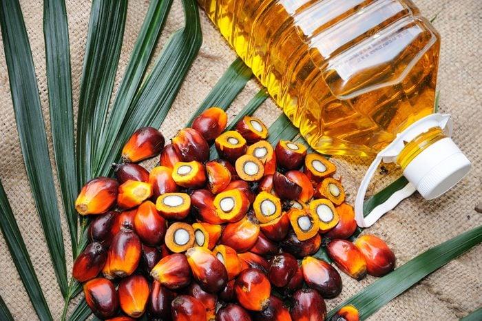 Fresh oil palm fruits