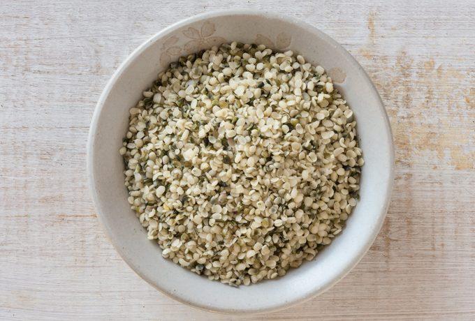 hemp seeds in bowl