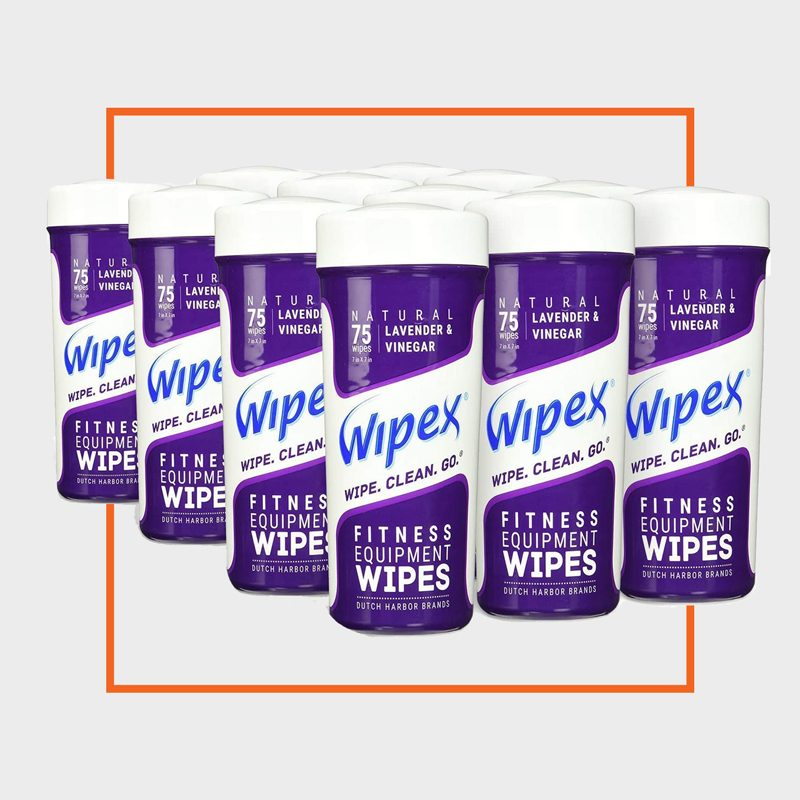 Wipex Natural Gym & Fitness Equipment Wipes for Personal Use, 75 Count