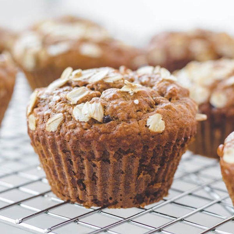 flourless banana oatmeal muffins