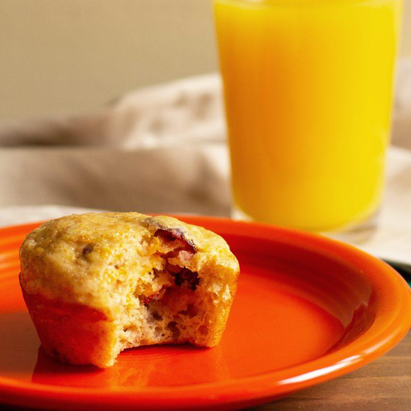 orange juice cranberry muffin