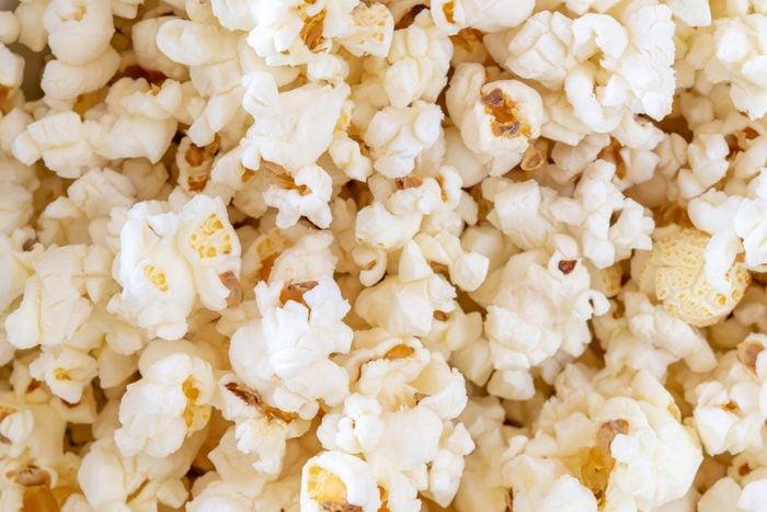 Full-frame of popped popcorn