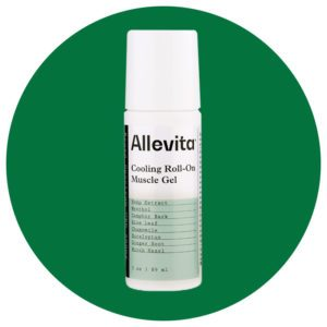 allevita cooling roll on muscle gel