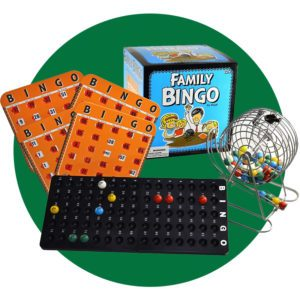Regal Games Family Bingo Set with Cage and Shutter Slide Cards