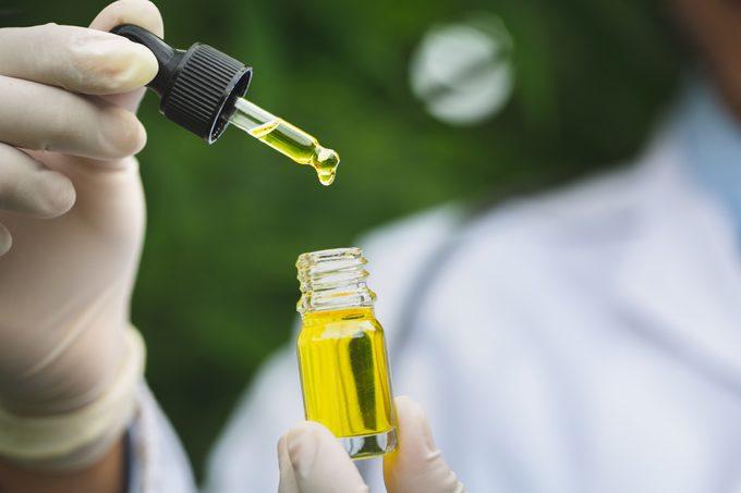 cbd oil close up