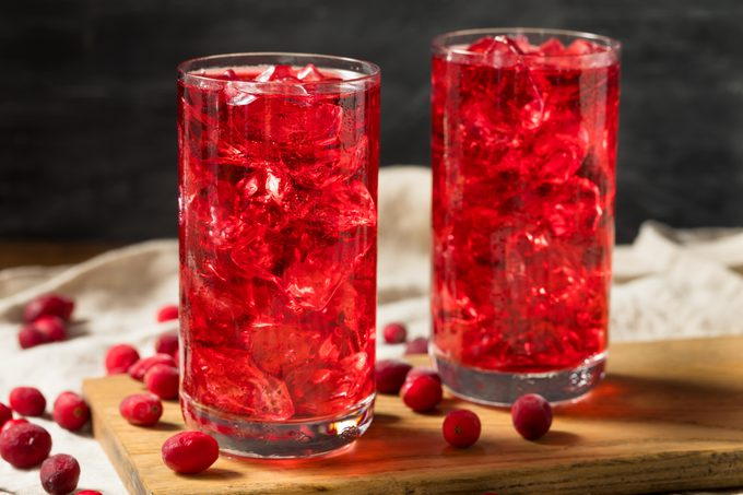 Cold Refreshing Organic Cranberry Juice Cocktail