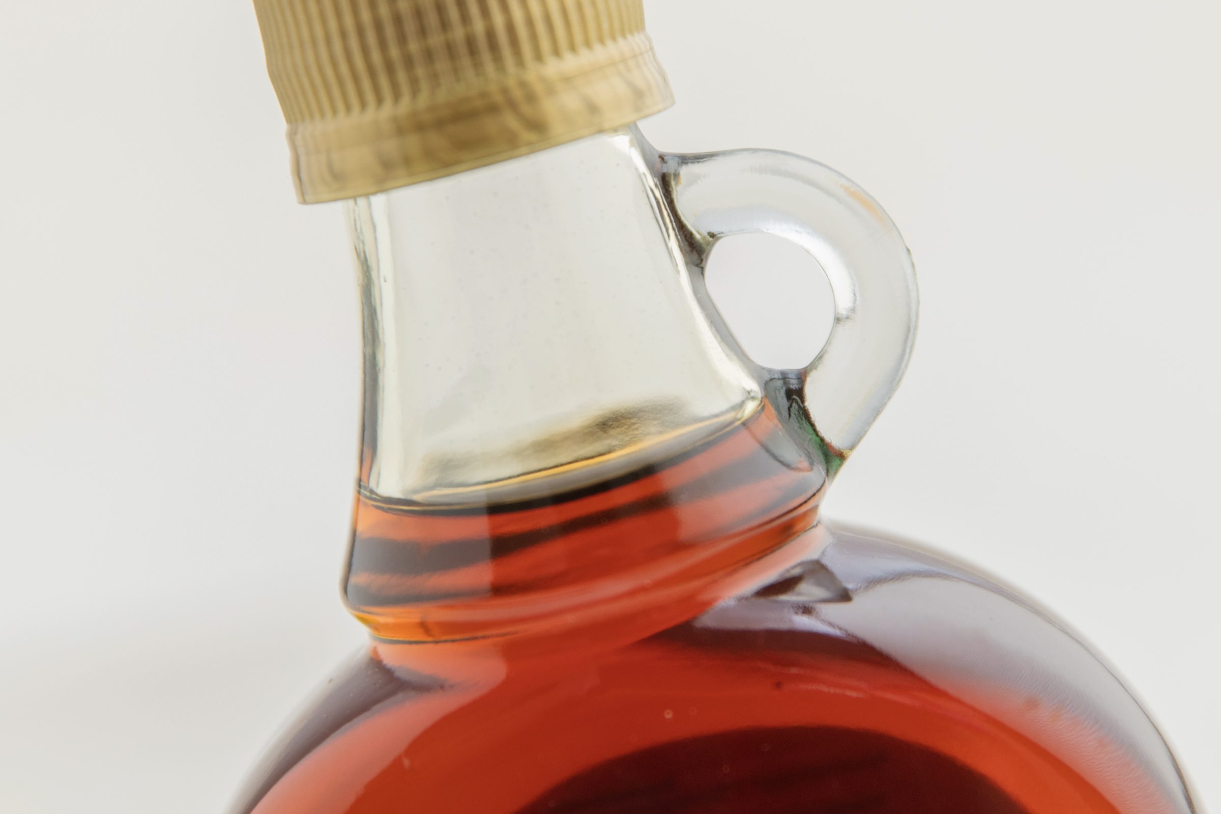 maple syrup bottle close up