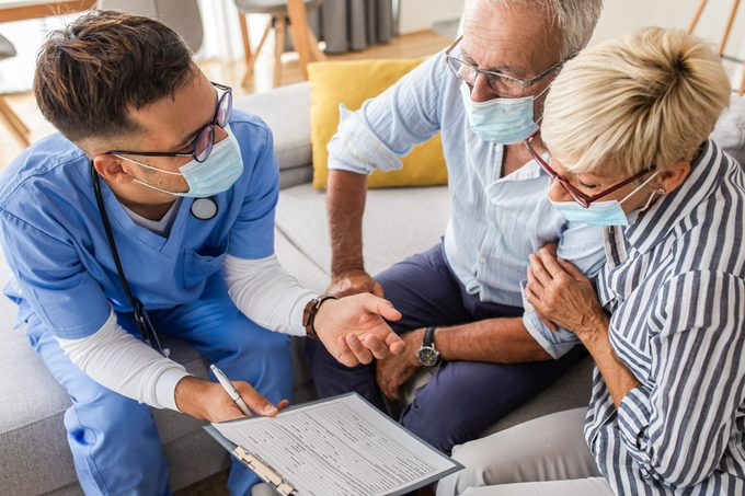 Doctor and patients discussing options