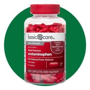 Amazon Basic Care Rapid Release Pain Relief, Acetaminophen Caplets