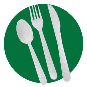 AmazonBasics 360 Piece Plastic Cutlery Set