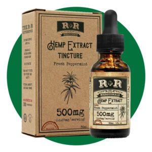 R + R Medicinals Hemp Extract Tincture 500 mg