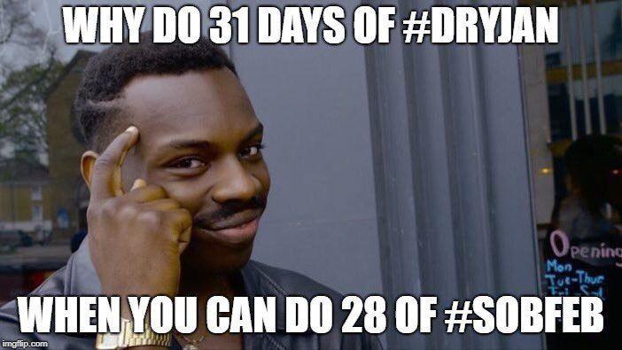 dry january meme