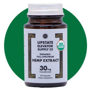 Upstate Elevator Supply Co Organic Full Spectrum CBD Capsules
