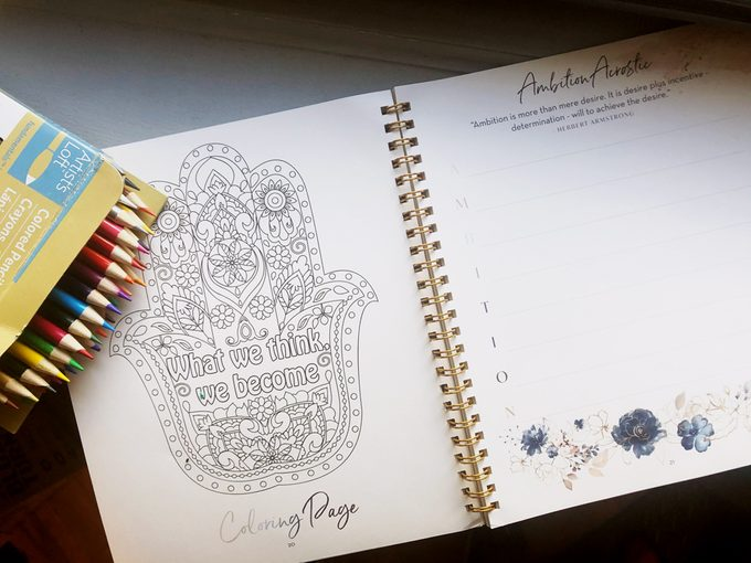 Silk and Sonder Journal Coloring page