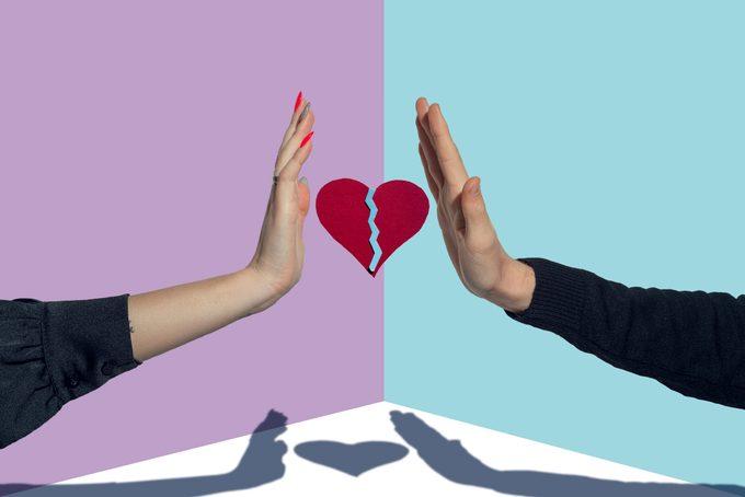 Relationship breakup concept